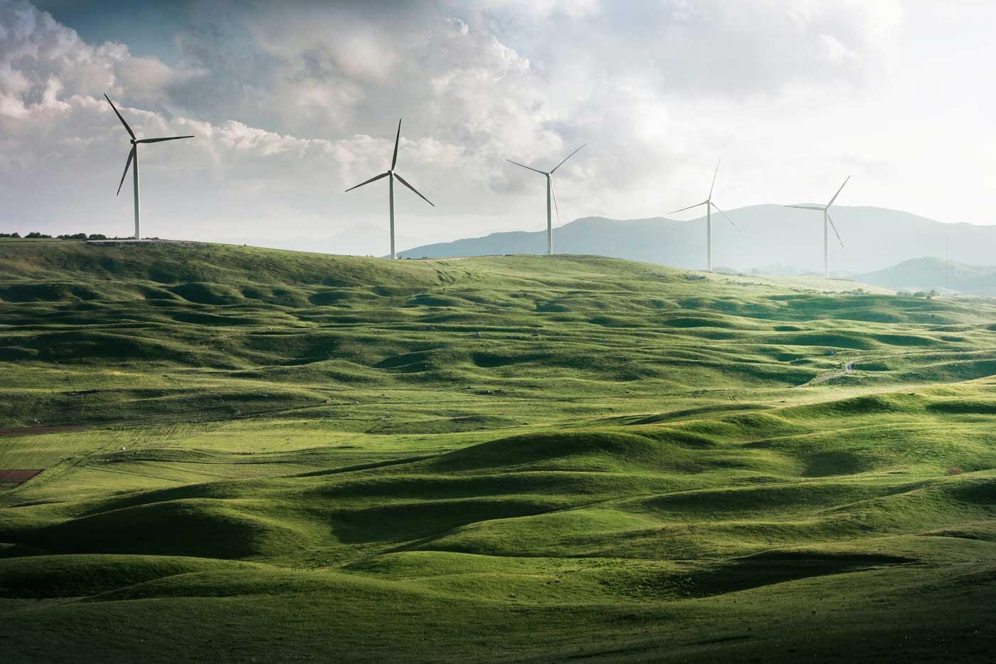 Windräder erzeugen erneuerbare Energien